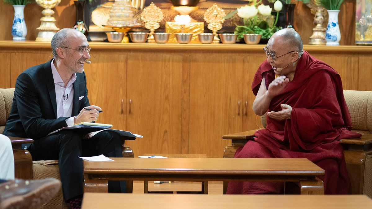 """Watch Live: HHDL joins Harvard Business School professor and columnist Arthur Brooks for an online conversation on """"Leadership and Happiness"""" followed by student's questions, from his residence in India on January 17th at 9am IST (Jan 16th 10:30pm EST). https://t.co/xaPTxTZeOd https://t.co/X0tdHCygd1"""