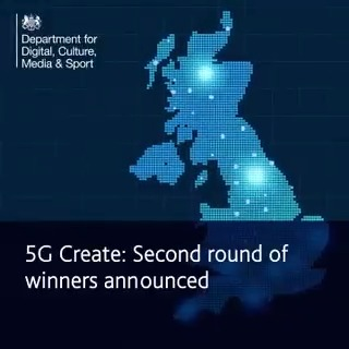 📢 We are beyond excited to be joining the @DCMS '5G Create' programme with our groundbreaking MK:5G project! Huge congratulations to all #5GCreate winners: @mkcouncil @edenproject @cowes_week @BAMNuttall @CandourTV @O2 @salesfactory42 @WestofEnglandCA 🙌