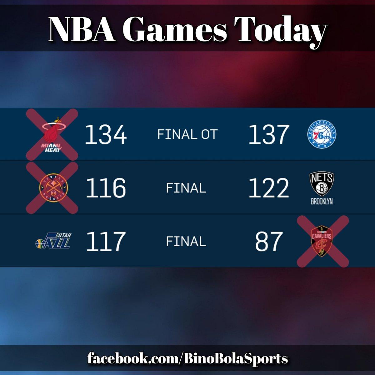 NBA games today! #RegularSeason #Day21 #BinoBolaSports #Scores