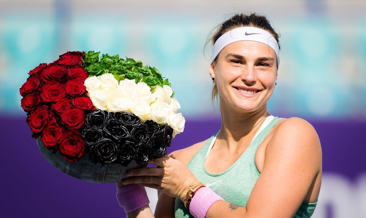 Superb Sabalenka 💪  Aryna Sabalenka is projected to reach a new career-high ranking of World No.7 after defeating Kudermetova in the Abu Dhabi final -->