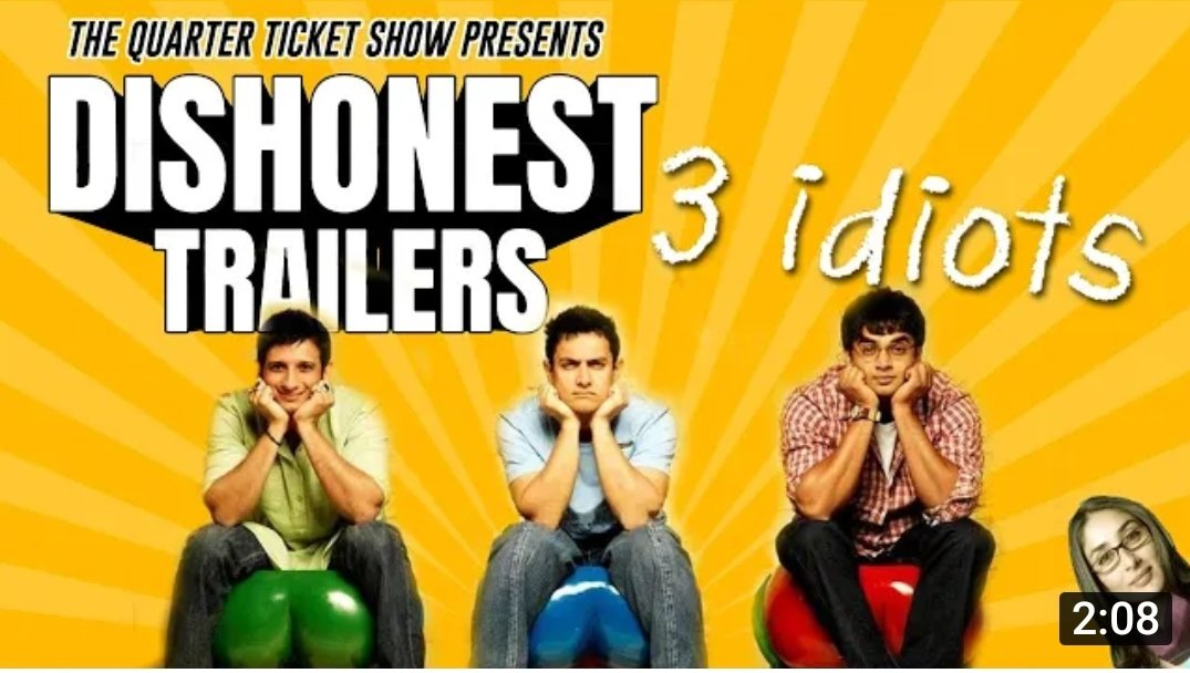 @Chaitan96195653 @ShraddhaKapoor @SiddhanthKapoor if 3 idiots was a crime thriller  3 idiots - a dishonest trailer check it out here