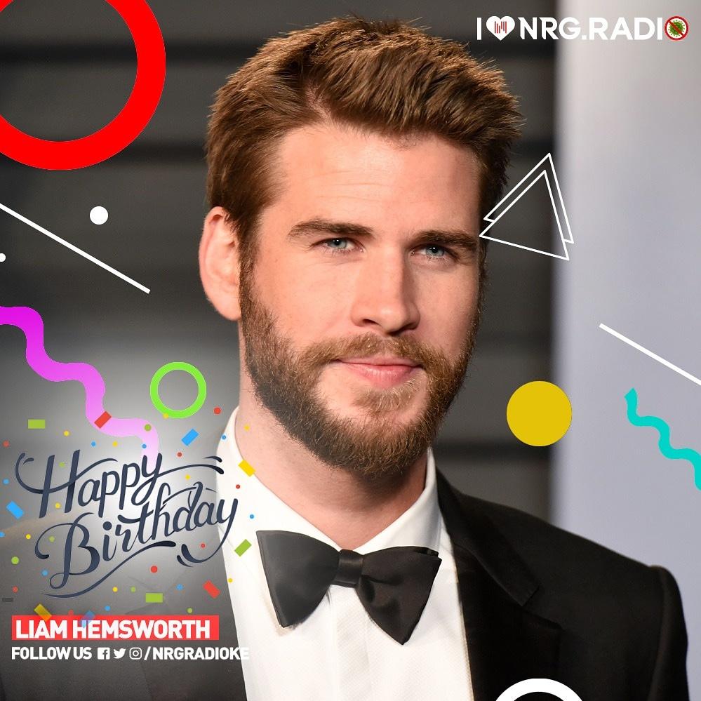 Happy birthday to, Australian actor, Liam Hemsworth.   ..