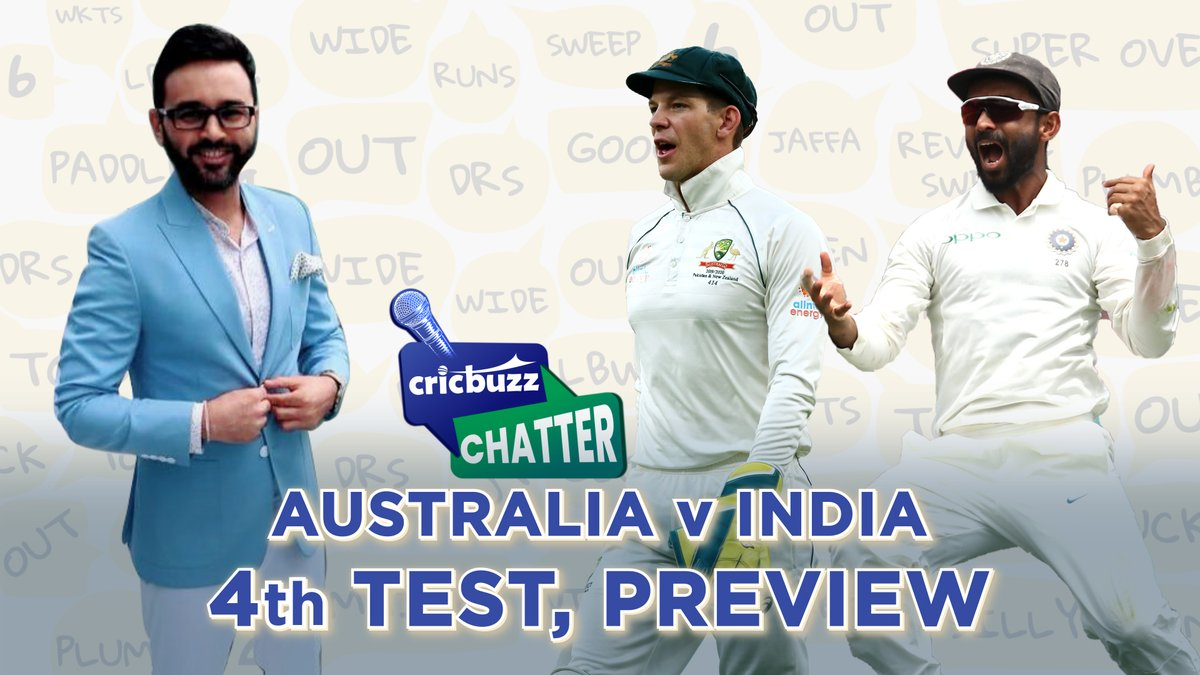 Which Indian pacer will fill in for #JaspritBumrah? 🤔  Will #TeamIndia be worried with their record at the #Gabba? 😳  Are Australia under pressure? 🧐  Watch @parthiv9 answer all that and more as he previews the final #AUSvIND Test on #CricbuzzChatter with @Tanay_Tiwari