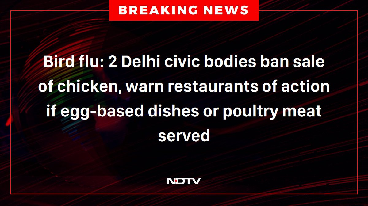Replying to @ndtv: #BirdFlu