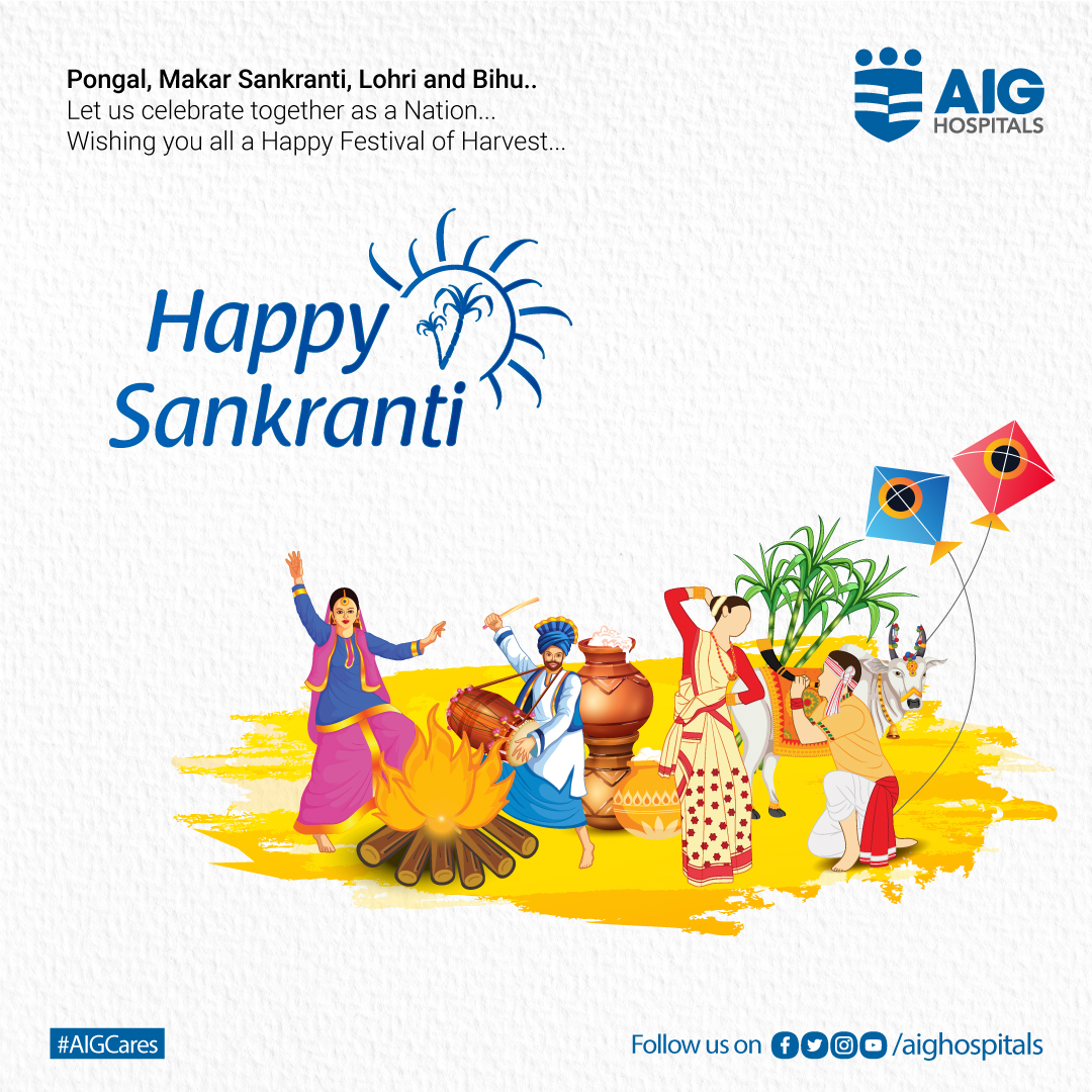 A new beginning with a new hope has started. May this winter #festival spree bring loads of #happiness in your life along with good #health. Wishing you all a very Happy Pongal, Sankranti, Lohri and Bihu  #AIGHospitals #AIGCares #Pongal #Sankranti #Bihu #Lohri