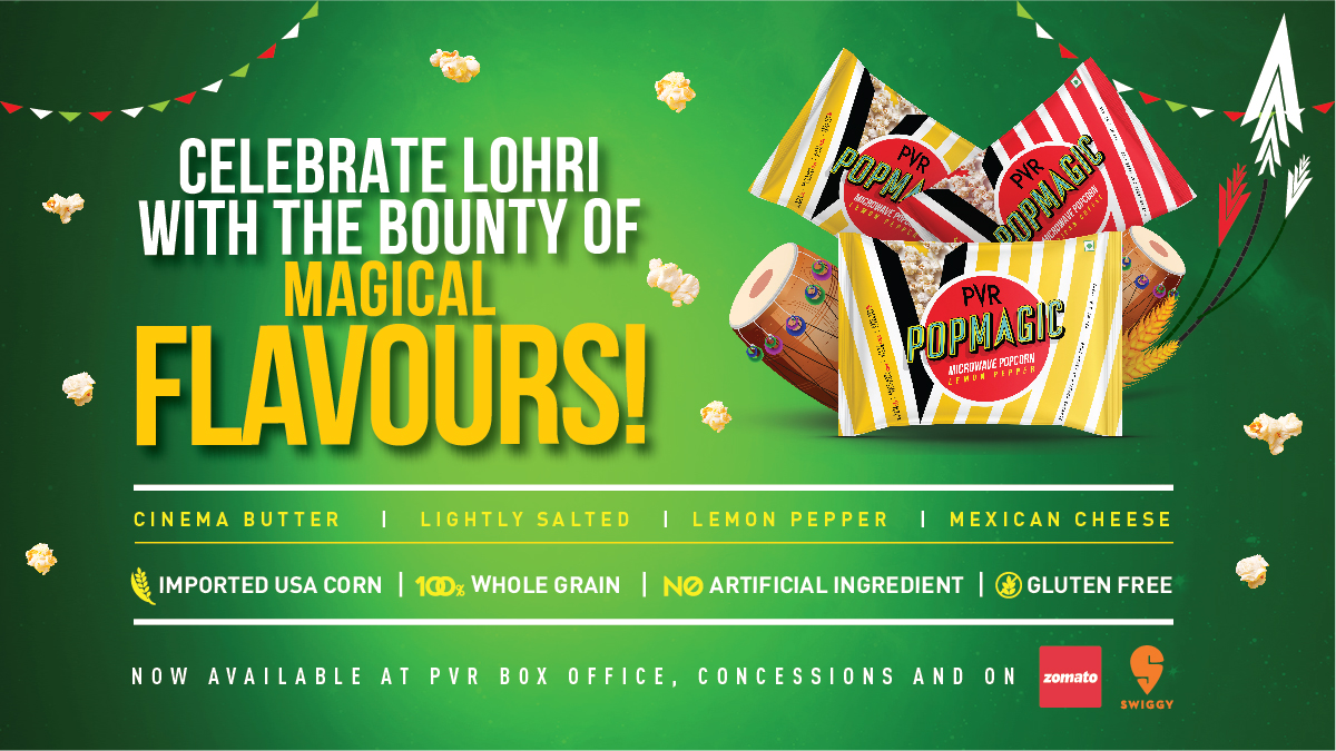 Add some magic to your Lohri celebrations with PVR Popmagic- Microwave Popcorn  Wishing you all a very Happy Lohri!  #Lohri #LohriFestival #Lohri2021 #PVR