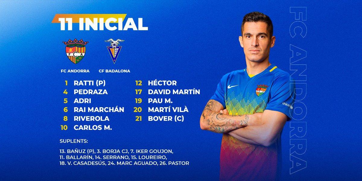 Aquest és l'1️⃣1️⃣ escollit per Nacho Castro  #SomTricolors🔵🟡🔴 #AndorraBadalona