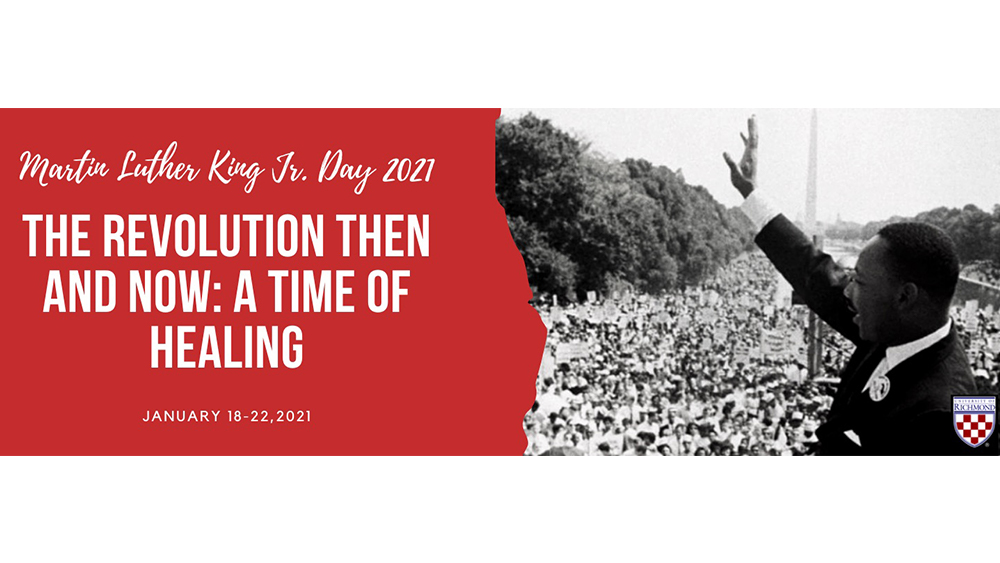The University of Richmond will be closed Monday, Jan. 18, to allow the campus community to engage in physically-distanced service activities celebrating #MLKDay2021. Learn more about the celebration here: https://t.co/bWdFlDLzrd https://t.co/us8h80rHdh