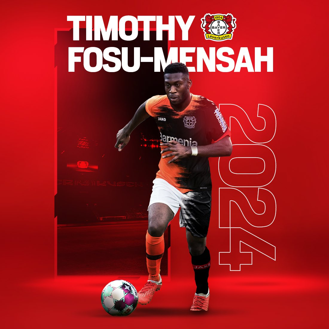 🚨 TRANSFER NEWS 🚨   Timothy Fosu-Mensah has joined Bayer 04 from Manchester United.   Welcome to the Werkself, Timothy!