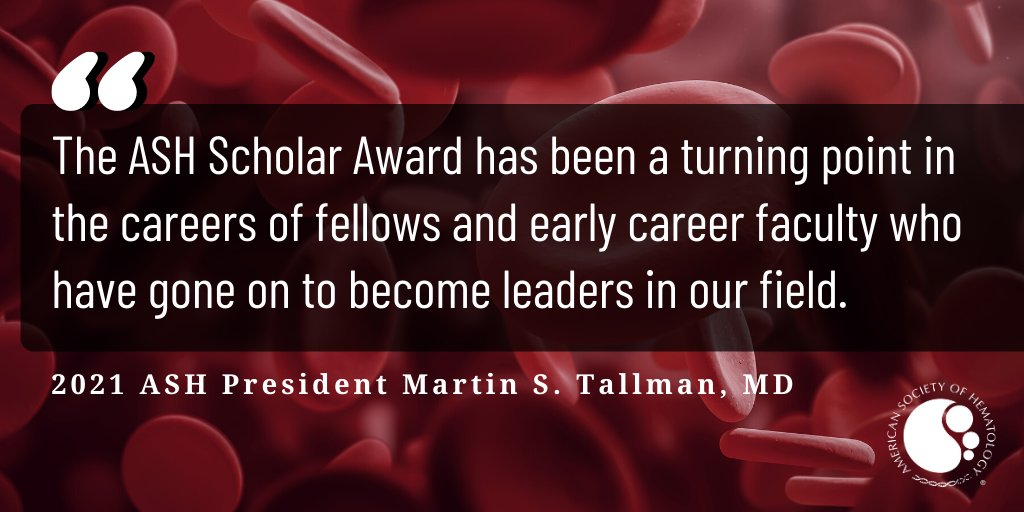 Today, we proudly announce the 36 recipients of our 2021 ASH Scholar Awards, one of our most prestigious research award programs for fellows & junior faculty dedicating a #career to #hematology research! 🎉🩸 #ASHAwards  Read about our awardees today: https://t.co/R3669MsnVf https://t.co/YpwemK9mkG