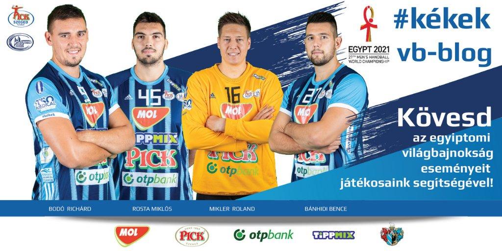 Január 15-én megkezdődik az egyiptomi férfi kézilabda-világbajnokság. Klubunk magyar válogatott játékosai bloggal jelentkeznek a helyszínről. Pénteken Mikler Roland ad helyzetjelentést. Bővebben: https://t.co/IJmBA0HmTv https://t.co/tEF3v8RZLB