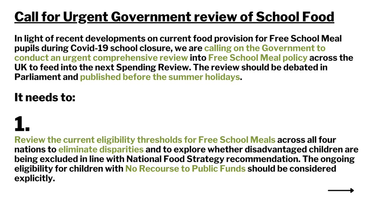 We stand with @MarcusRashford in calling on Government to conduct an URGENT COMPREHENSIVE REVIEW into #FreeSchoolMeals policy across UK nations.  Sticking plasters & short term solutions will not suffice. Now is the time to act.   #EndChildFoodPoverty