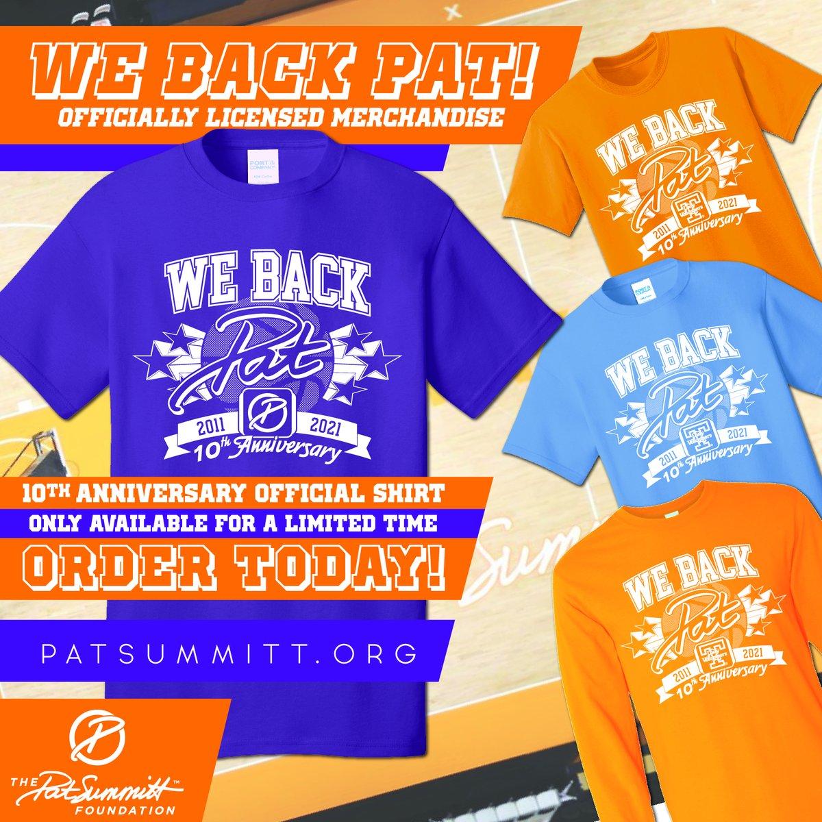 We Back Pat Week kicks off tomorrow. Order your 10th Anniversary We Back Pat shirt today:   #webackpat #10thanniversary #PatSummitt