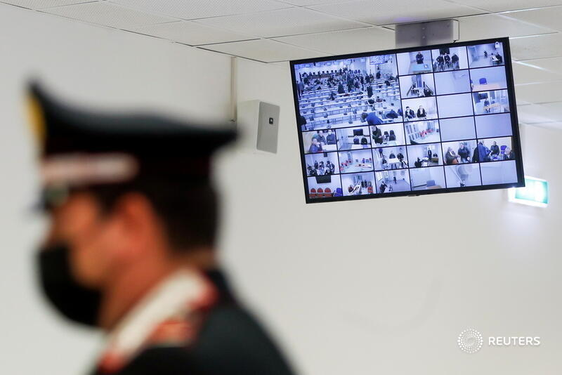 One of Italy's largest-ever mafia trials kicked off on Wednesday, with more than 320 suspected mobsters and their associates facing an array of charges, including extortion, drug trafficking and theft