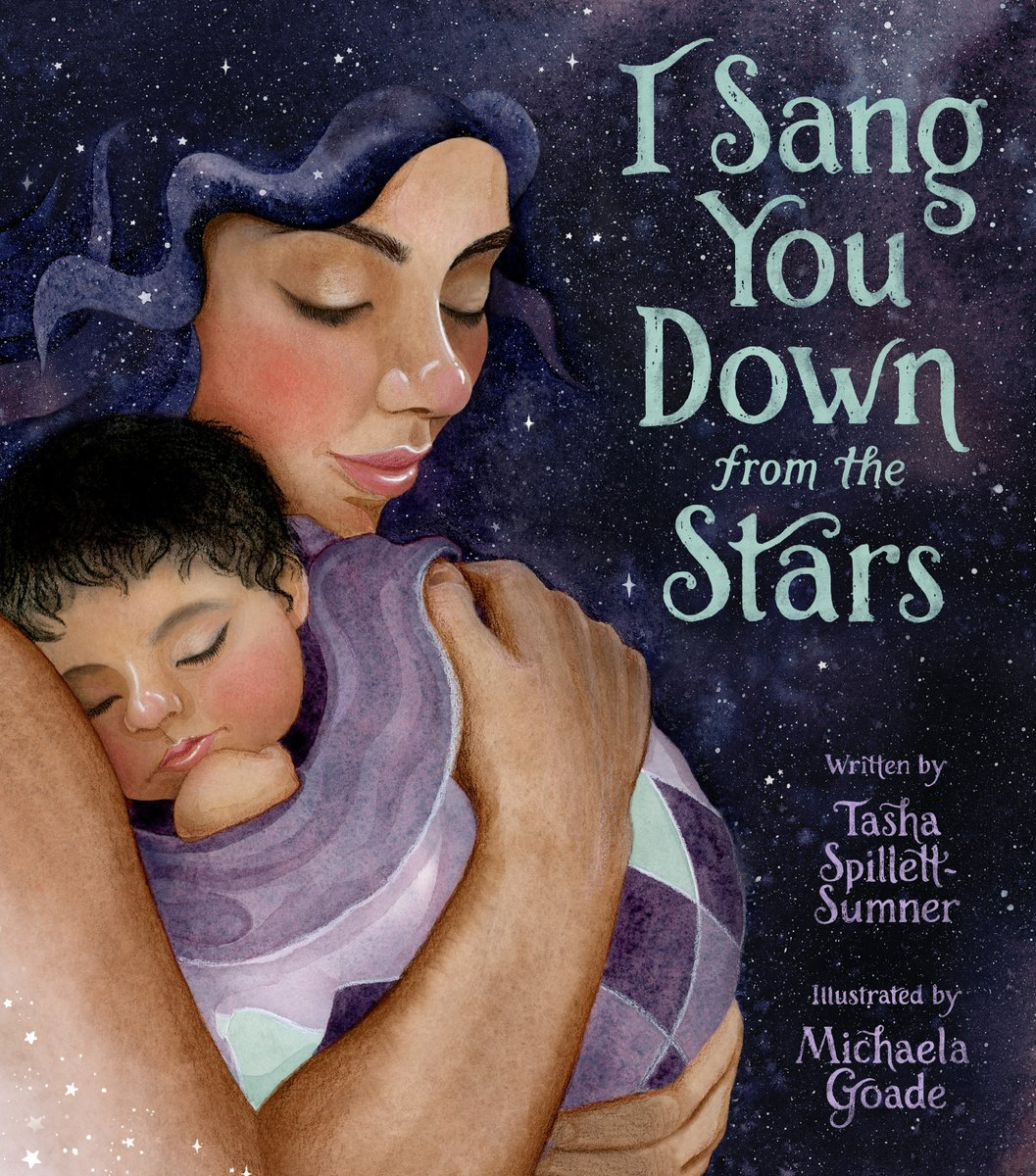 I SANG YOU DOWN FROM THE STARS is from @MichaelaGoade and Tasha Spillett-Sumner. Stunning art and moving text take center stage in this story of a mother waiting for the arrival of her new baby.   #ALAMW21