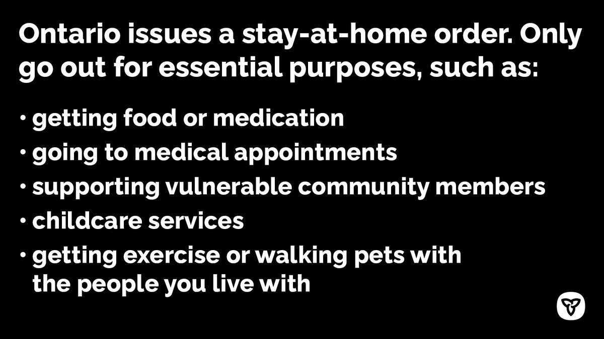 test Twitter Media - Effective Jan 14 at 12:01 a.m., Ontario is issuing a #StayAtHome order requiring everyone to remain at home, except for essential purposes, such as going to the grocery store or pharmacy, accessing health care services, getting exercise or for essential work. https://t.co/pAssT5zjsG