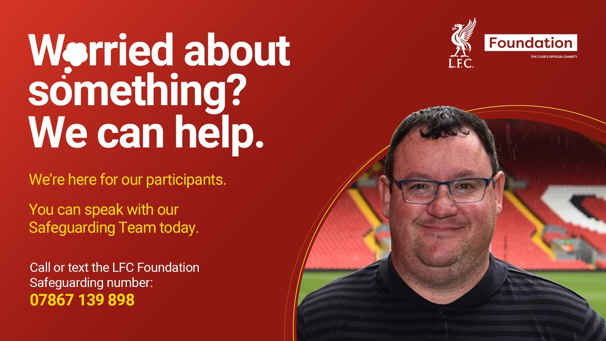 We're here for our participants.❤️  You can speak with our @LFC Safeguarding Team today.  We will listen.  Guides for young people & vulnerable adults available in the link. You can also report an issue.  📲