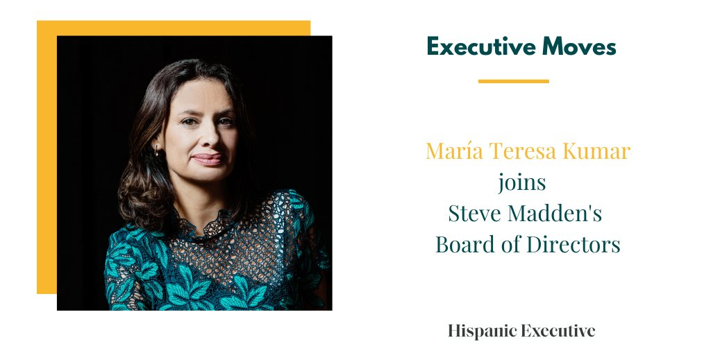 Congratulations, Maria Teresa Kumar! The president and CEO of @votolatino has been appointed to the board of directors at fashion giant @SteveMadden.