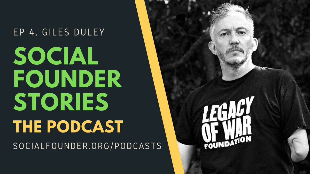 The latest episode of our podcast, #SocialFounderStories, is now live! We speak with the inimitable @gilesduley, Founder & CEO @Legacy_of_War, about adversity and courage, photography as advocacy, and his incredible resilience story.    Listen here: