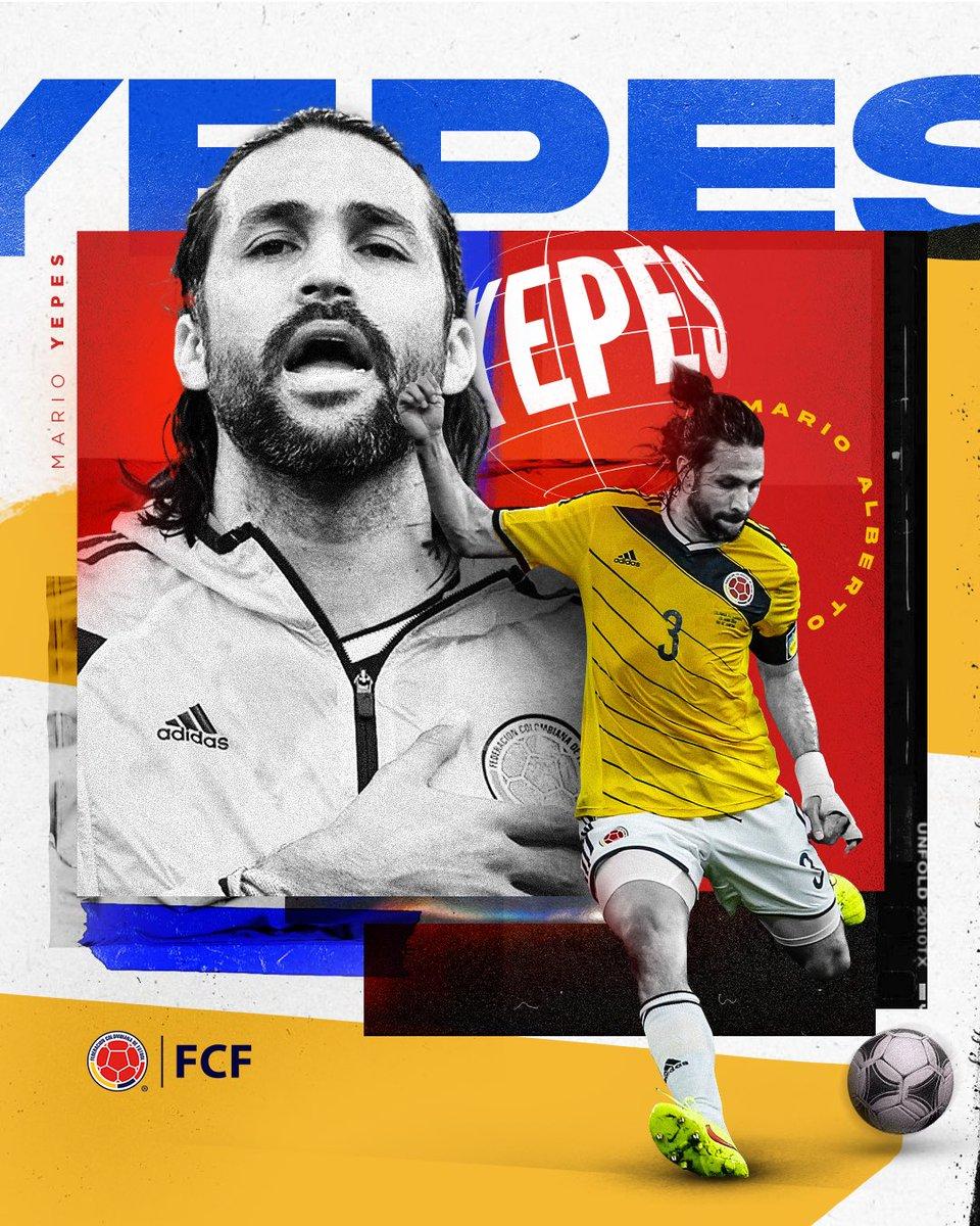 ¡Felicitaciones Capitán 👊!  @MarioAYepes está cumpliendo 4⃣5⃣ años y queremos celebrarlos junto a él 🤜🤛  Gracias por tanta entrega y lucha con la camiseta de la Selección Colombia 🇨🇴