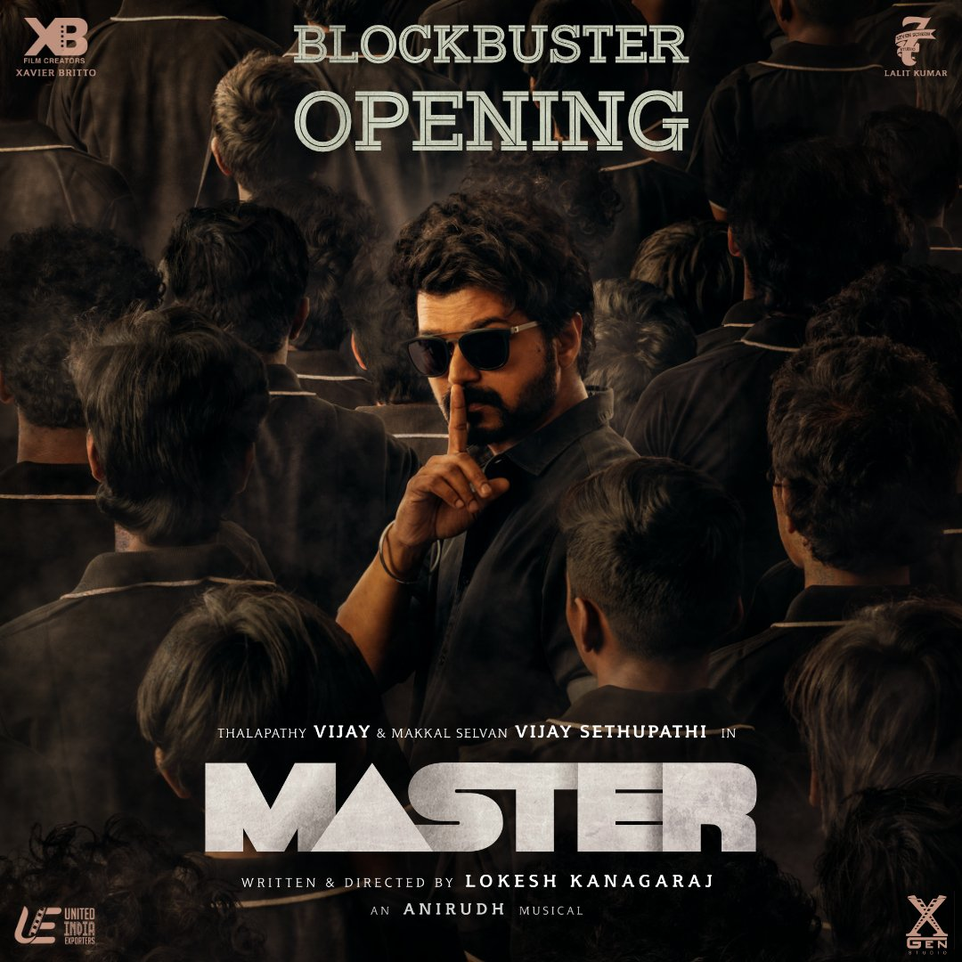 #OneWordReview : #Masterfilm   Review : M - A - S - T - E - R  RATING : ⭐  ⭐  ⭐ ½  #ThalapathyVijay  & #VijaySethupathi  Superb🔥🔥  @anirudhofficial  BGM, Songs 👌@sathyadp DOP 👌   #MasterPongal #Master @actorvijay #VaathiKabaddi  #VijayTheMaster  #BlockbusterMaster