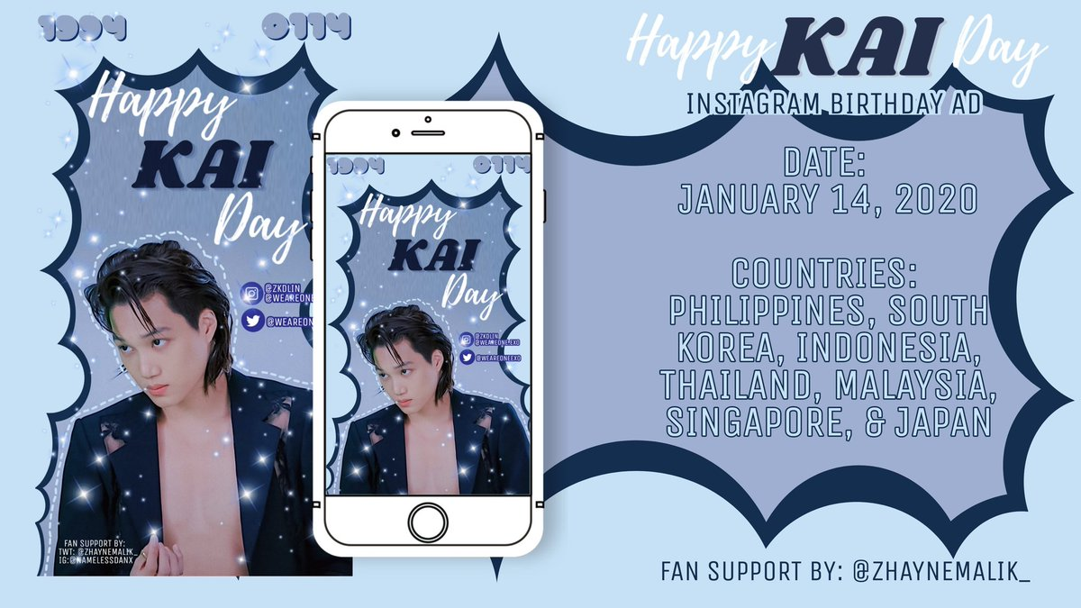 🎉🐻Ⓗⓐⓟⓟⓨ Ⓚⓐⓘ Ⓓⓐⓨ🐻🎉       ~~instagram birthday ad~~  Date : January 14, 2021 Location : 🇰🇷🇵🇭🇮🇩🇹🇭🇸🇬🇲🇾  ~please do tag me if you see the ad~  Special thanks to @XxxAtelier for allowing me to use your photo~♥︎  #KAI #EXO #카이 #JONGIN #HAPPYKAIDAY @weareoneEXO