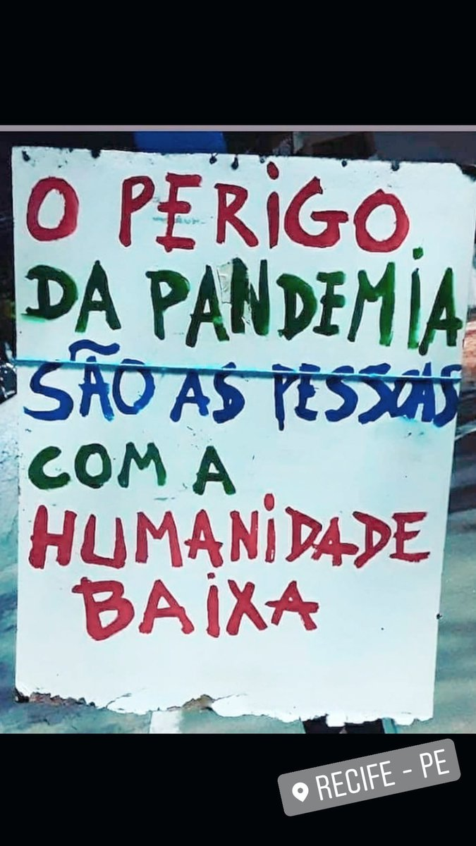 O perigo da pandemia é simples assim 🌱 #HumanidadeBaixa [direto do Recife professor @ProffGilson ]