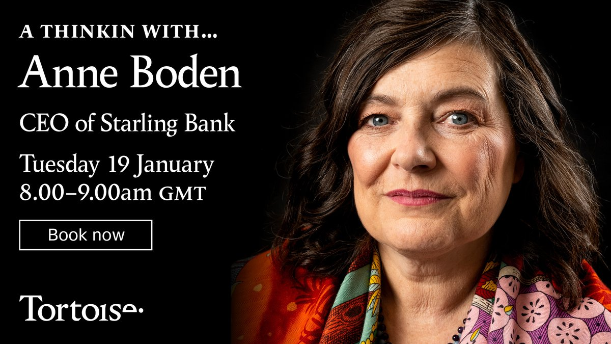 In the first of our monthly CEO conversations, James Harding talks to @AnneBoden, CEO and founder of @StarlingBank.  Interested in getting some tips on how to become a banking disruptor? Join us on Tuesday: