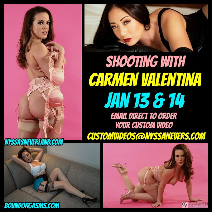Awesome shoot planned with @ClubCarmenXXX @FlyonNyssaswall @BoundOrgasms these next two days!!   I'll