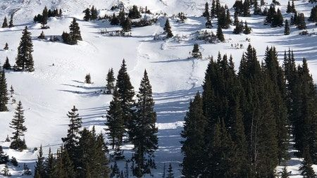 #CAICFrontRange MOD(2of5) You can trigger a large avalanche on north to east to southeast-facing slopes. Avoid these steep open slopes with signs of previous wind loading. Lower-angled terrain without steep terrain above offer safer travel options. https://t.co/mHFwzEYUYZ https://t.co/l8fohIXpj6