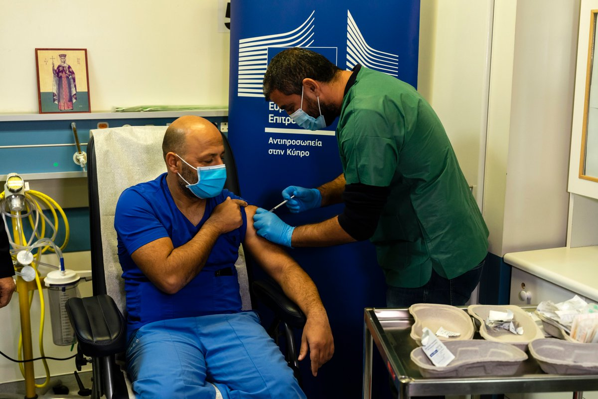 From 🇫🇮 Helsinki to 🇨🇾 Nicosia, From 🇧🇬 Sofia to 🇵🇹 Montemor-o-Velho,  People across the EU are getting vaccinated against #COVID19, starting with the most vulnerable.  Vaccination is the lasting way out of the pandemic. #SafeVaccines #StrongerTogether