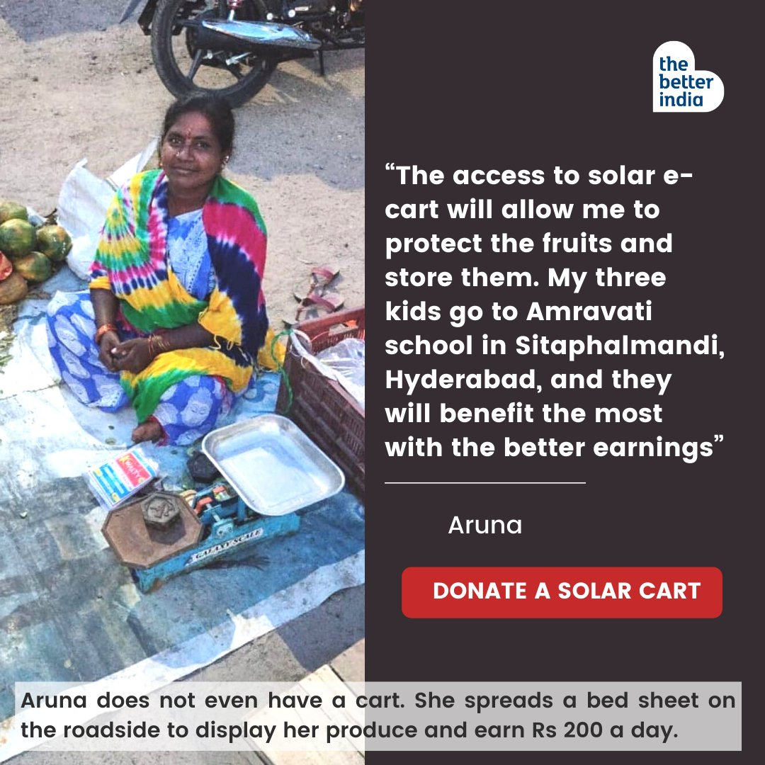Street vendors like Aruna are central to India's cultural and economic identity, but COVID-19 has dealt them a serious blow. When you #GiftACart, you are providing economic relief to vendors during a critically difficult time.