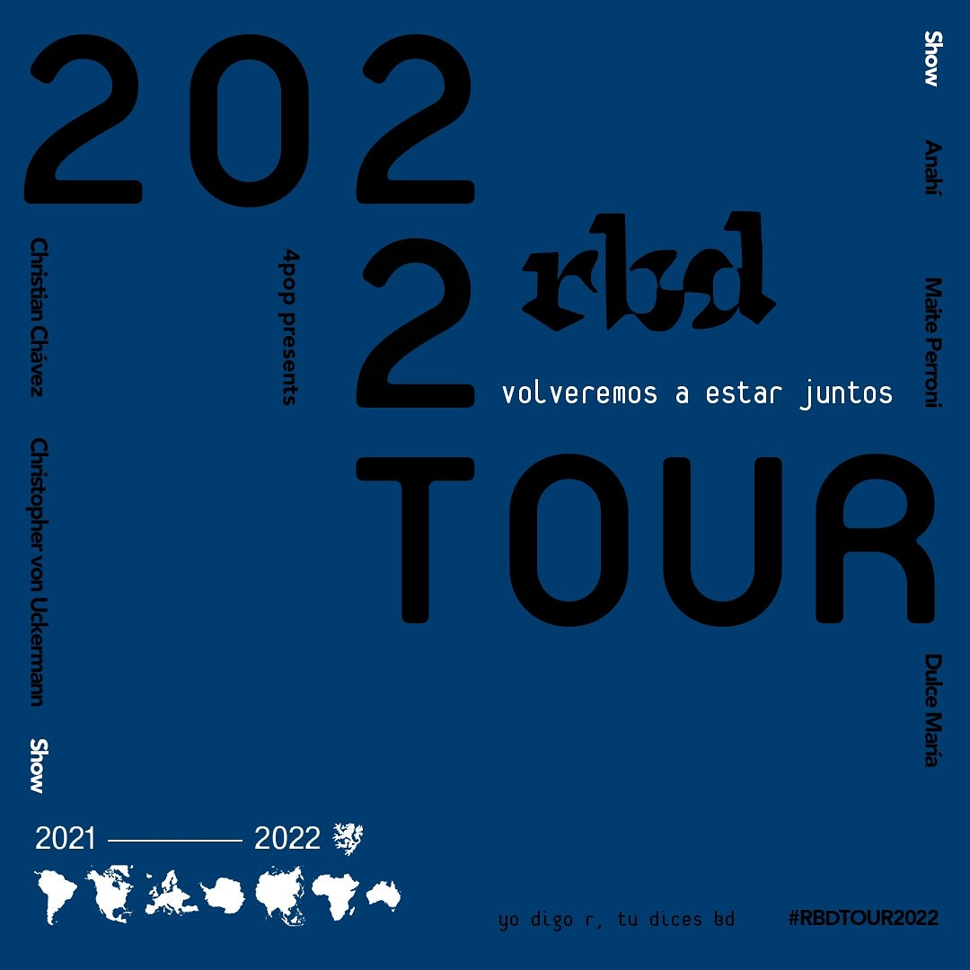 💥 Tour RBD 2022 💥  - Más información cada martes en @twitch  #SerOParecer #RBDisBack