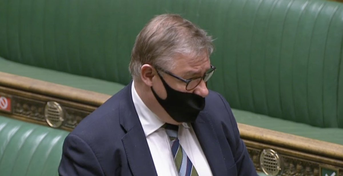 Tory MP Mark Francois wearing his mask over his mouth but not his nose while asking a question in the Commons https://t.co/WeT2JwgiHM