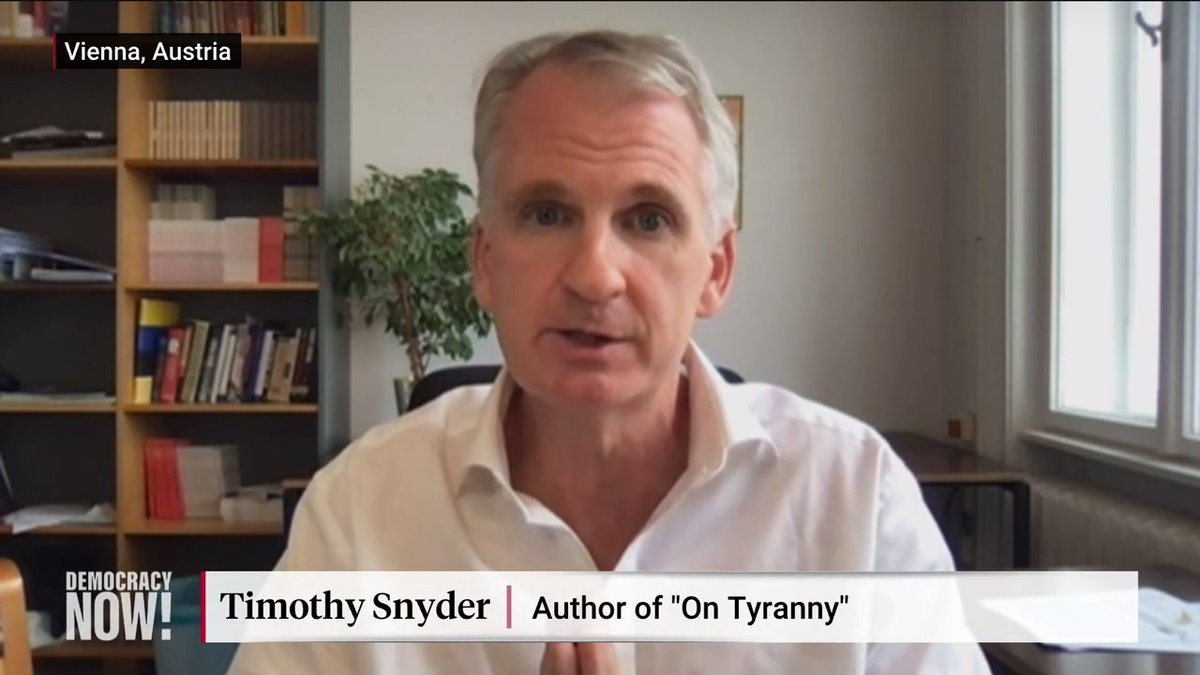 """Fascism scholar @TimothyDSnyder: """"The American republic is hanging by a thread because the president of the United States has sought to use violence to stay in power and essentially to overthrow our constitutional system."""""""