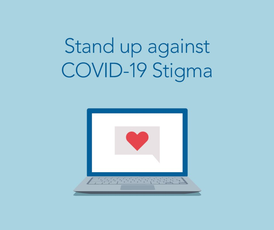 "When you hear that someone you know has COVID, do you: a. Share it on social media? b. Shame & blame b/c it's their fault they got it? c. React with compassion and kindness? Always choose ""C""  for Compassion.  Help STOP COVID Stigma! #BeCOVIDKind #StopStigma #StrongerTogether"