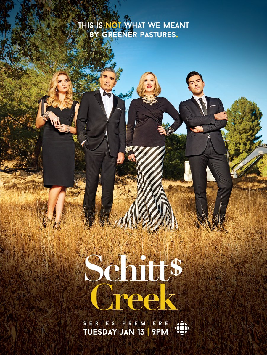 six years ago today, January 13th 2015, Schitt's Creek premiered on @CBC TV.