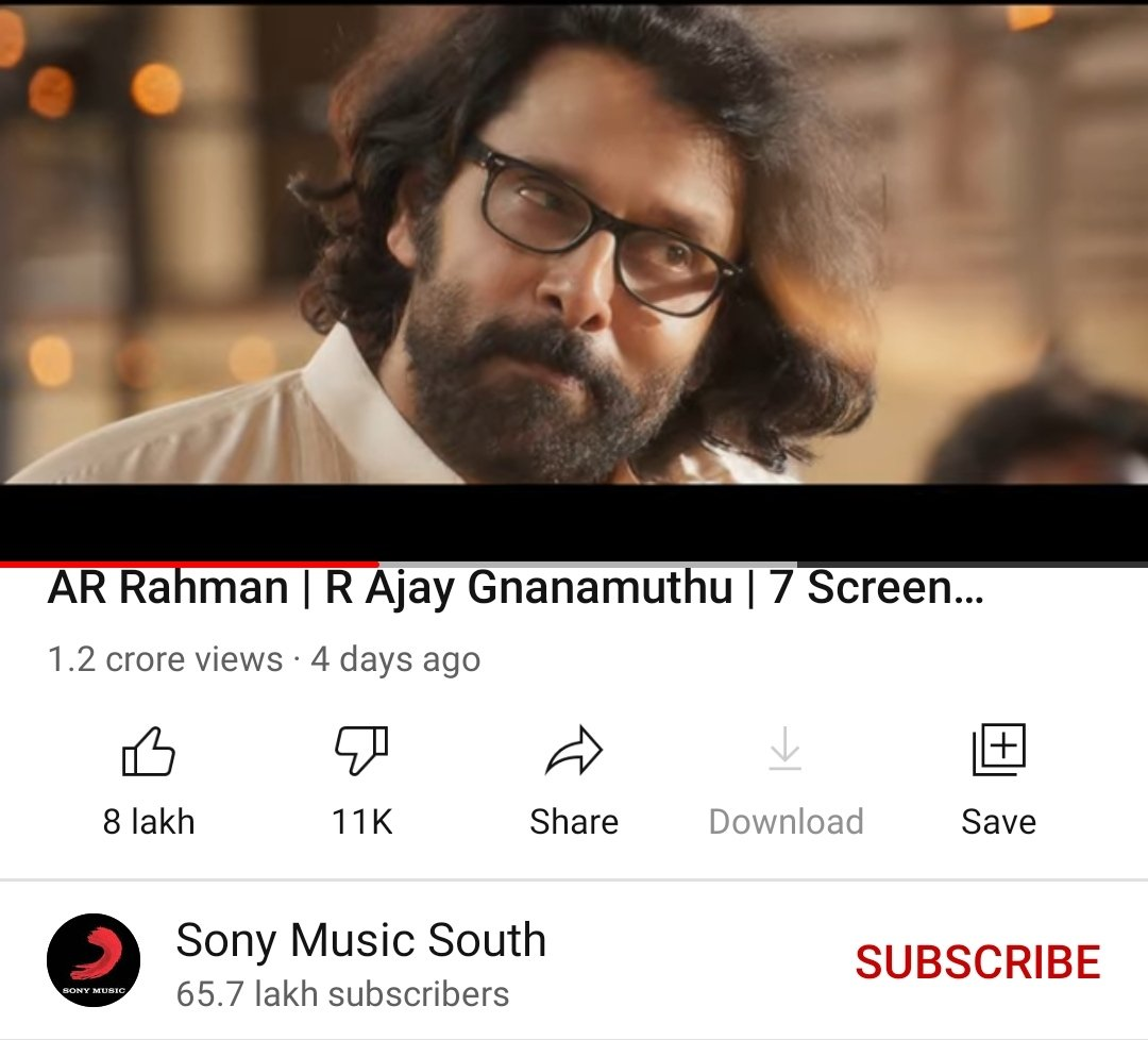 Teaser Of #ChiyaanVikram's #Cobra Is Now Reached The Milestone 800K+  In Likes Count. Still Trending At 11 On @YouTube   12 MILLION VIEWS & COUNTING 🌟  #CobraTeaser Link :     @AjayGnanamuthu @arrahman @IrfanPathan @7screenstudio @Lalit_SevenScr