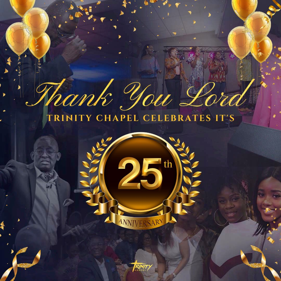 A message of Thanksgiving from Pastor Yemi Odusolu @YemiOdusolu: TC is 25years old today. Thank you Lord for how far you have brought us through it all. Hallelujah!!! I am also thankful for every member who are part of our story! Thanks to all who make up the History. Blessings. https://t.co/bkuLHIt8Lf