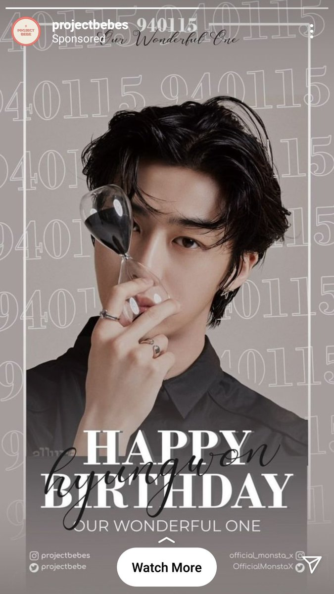 Look at this beautiful ad I got on Insta for Hyungwon's birthday! 💕  Thanks @projectbebe for doing this!  @OfficialMonstaX