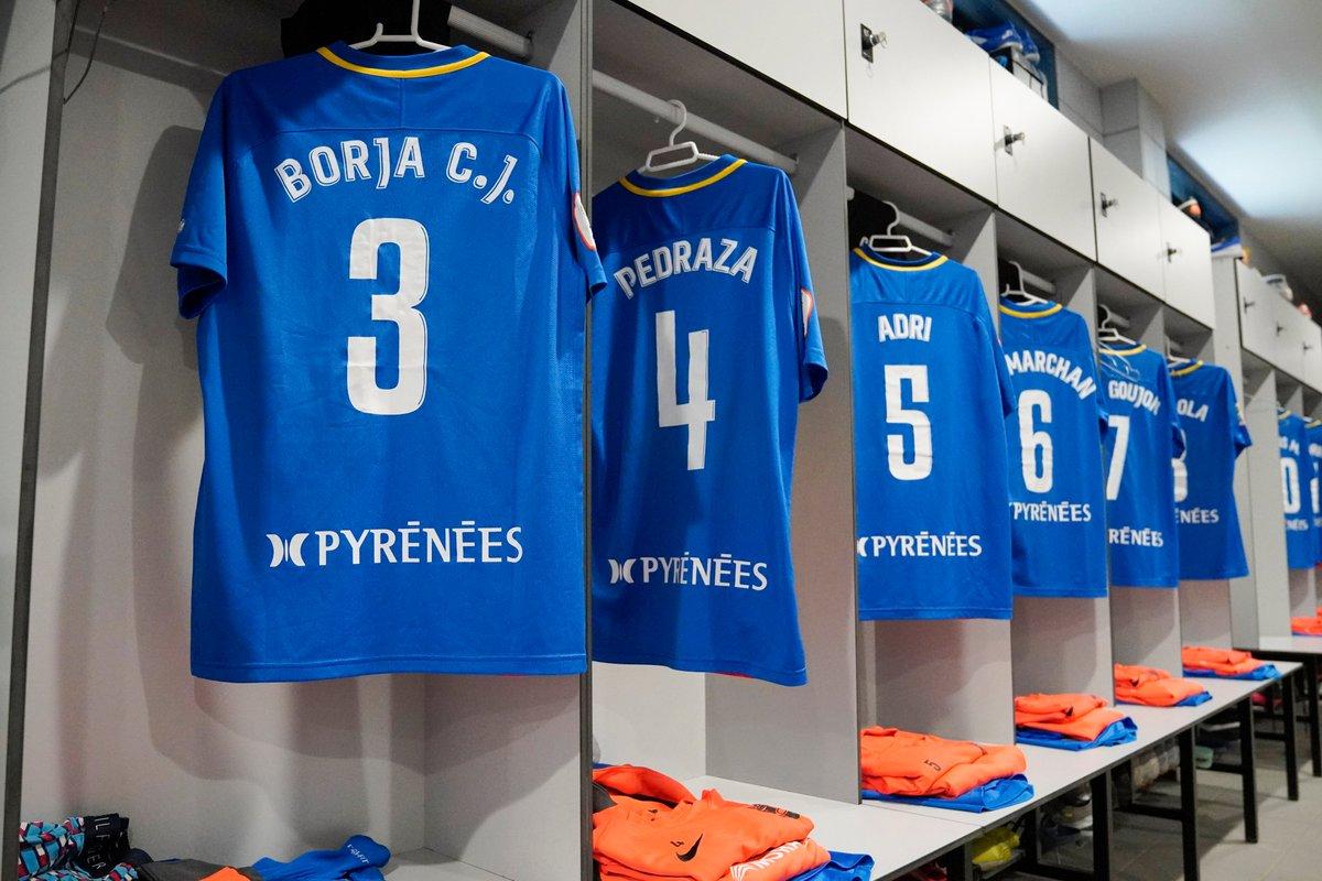 👌🏻 Tot a punt al nostre vestidor per al partit contra @CF_Badalona   #SomTricolors 🔵🟡🔴