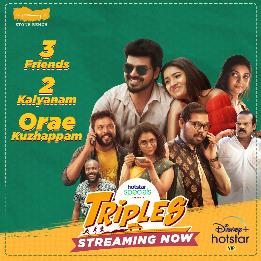This webseries is so fun and entertaining to watch.. laughter ride guaranteed 😍 @actorvivekpra  and #Namitakrishnamurthy their witty acting will make you to watch them again and again @vanibhojanoffl look so lovely and refreshing..kudos to the team #Triples #triplesthefun