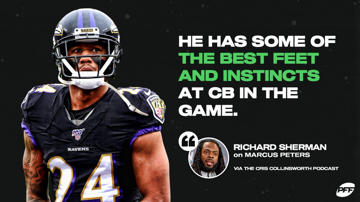 Replying to @PFF: Marcus Peters is one of the best in the game  🗣️ @RSherman_25