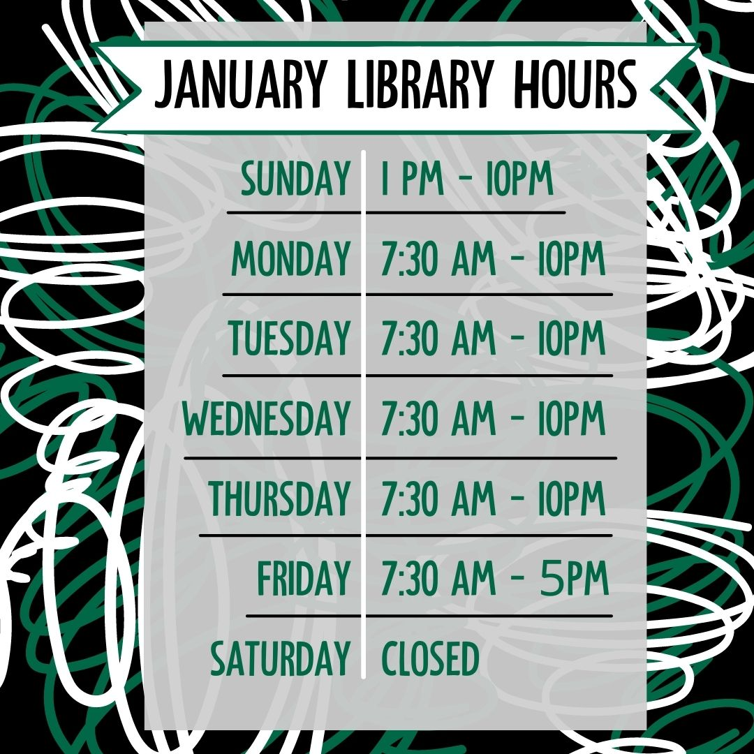 The first day of the spring term means we're back to more regular hours at the library! Starbucks is open, study rooms are available, and librarians are ready to help you find resources for all of those projects and papers. Come say hi! #oabaab #spring2021 #BearcatsCare