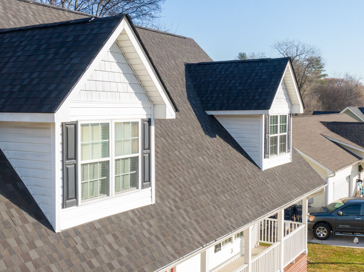 Love the way this new roof in North Georgia turned out. Customer chose @GAF Timberline American Harvest in Appalachian Sky.   #mygafroof #gaf #chattanooga #armorxteriors #armorroofing #armorup