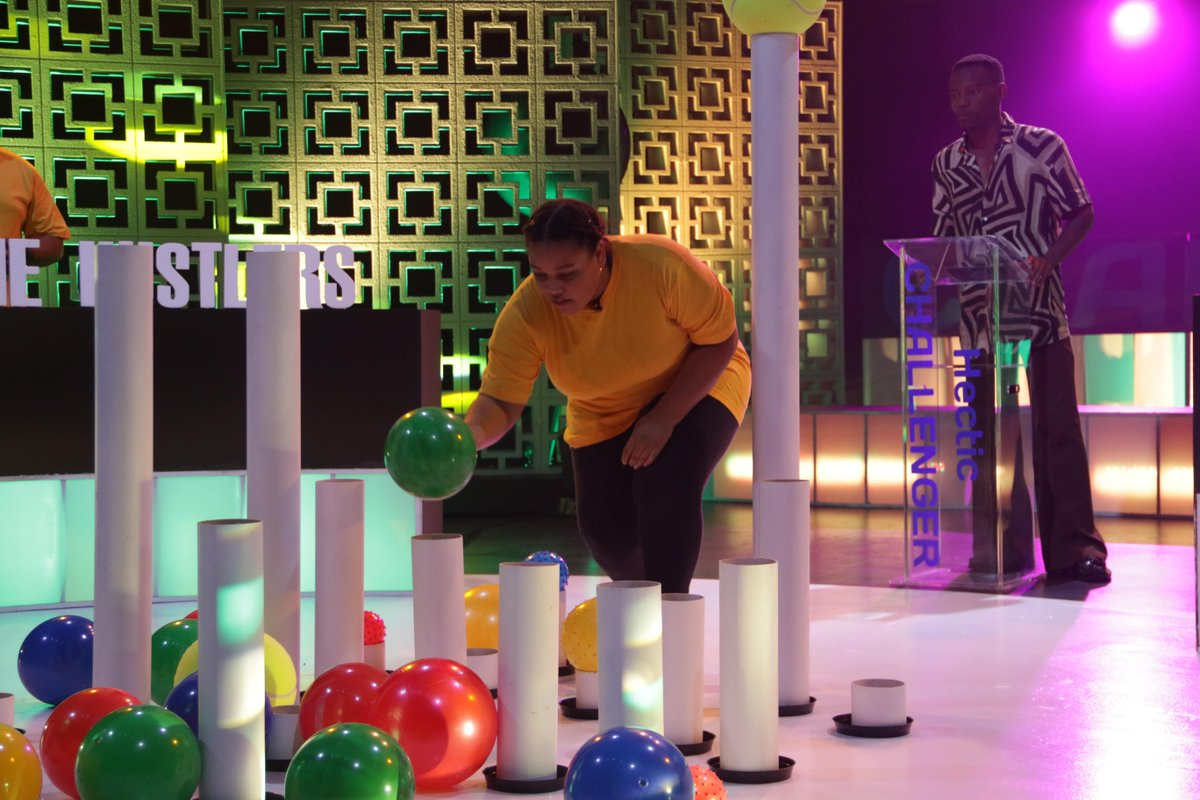 The challenges Need your concentration and team work. Do you have what it takes for #HecticCHALLNEGER? Catch the teams and George The Groove at 4:30pm on @SABC_2 https://t.co/OMrk2Z8lj8