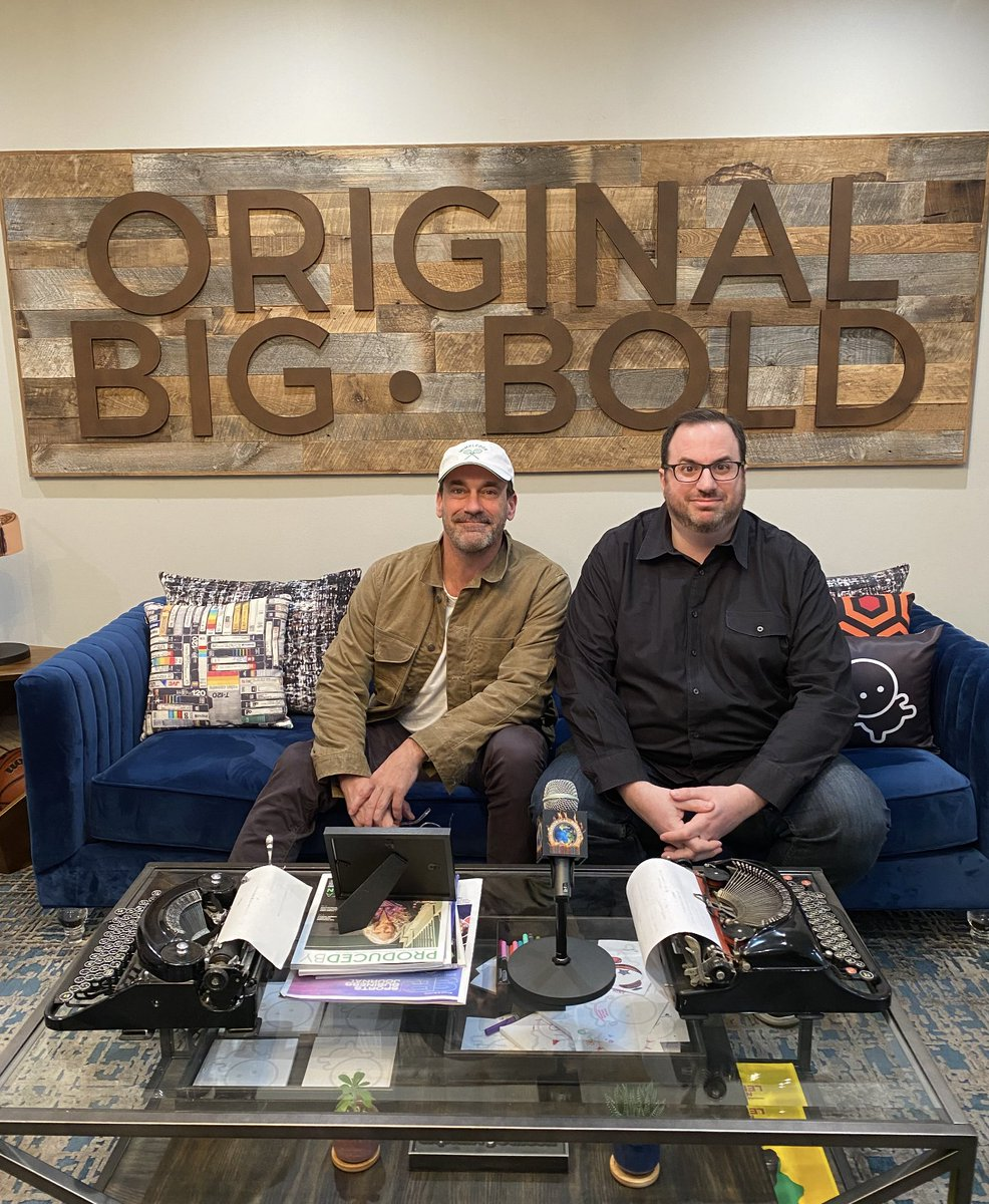 We recorded the first two #TLDWPod episodes in person, juuuust before the quarantine started, at the @OBB offices in LA. Here's me and our very first guest, honorary TV critic Jon Hamm, moments after we finished talking about the Gossip Girl finale.+ https://t.co/FNkFPCBxyW