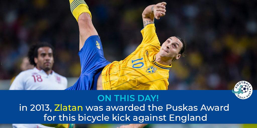🚲 #OTD #Zlatan #Puskas @Ibra_official