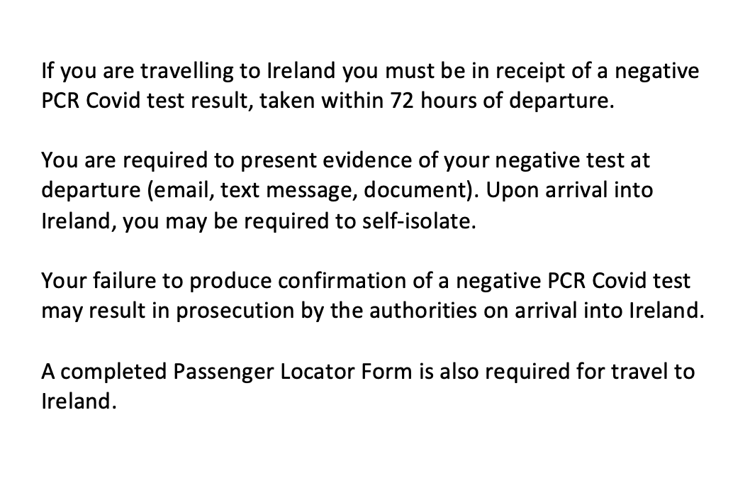 Customer Notice for passengers travelling to Ireland from January 16th 👇  For more information and useful links, click here: https://t.co/HD0m4bXyKw https://t.co/Wijx3H99cc
