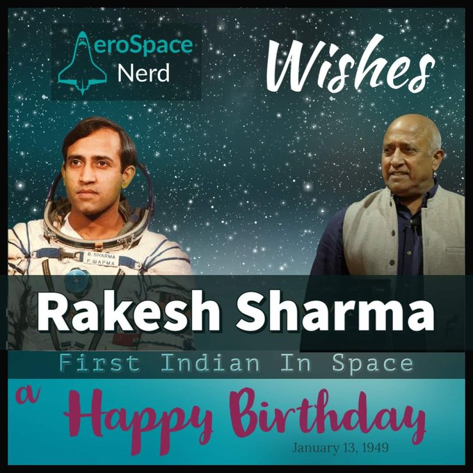 Wishing Rakesh Sharma a very Happy Birthday. Learn six facts about his first spaceflight.